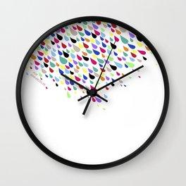 Pure Color Drops Wall Clock