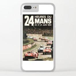 Le Mans poster, 1964, 24hs Le Mans, original vintage poster Clear iPhone Case