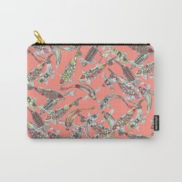 lucky koi coral Carry-All Pouch