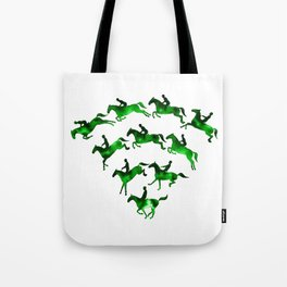 Connected to Showjumping (Green) Tote Bag