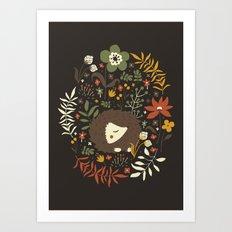 Cute Hedgehogs Art Print