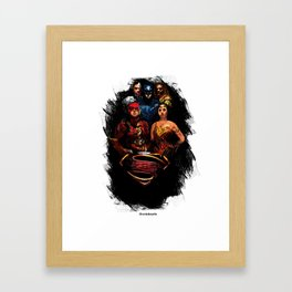 JL We can be heroes Framed Art Print