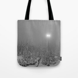 Dark day in the mountains Tote Bag