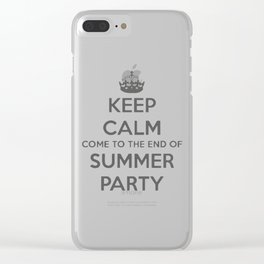 summer party Clear iPhone Case