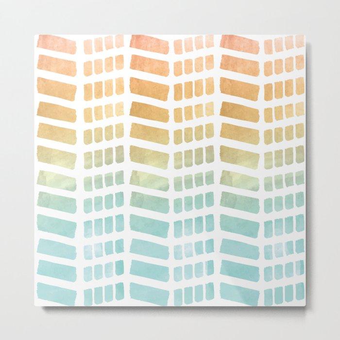 Gradient Boho Pattern Metal Print