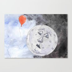 Moon and the Balloon Canvas Print