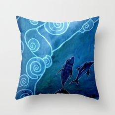 MELUSINA SEA DOLPHINS Throw Pillow