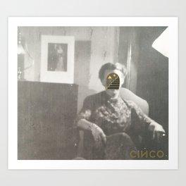 Grandma Portal Face Art Print