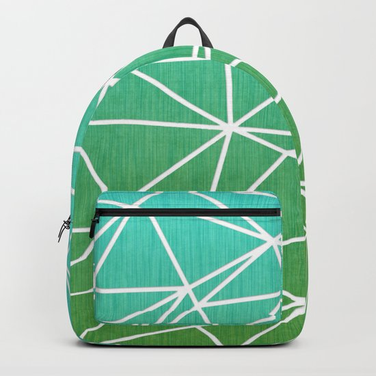 Abstract geometric | green & turquoise Backpack