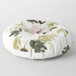Romantic Loose Rose Bouquet Floor Pillow