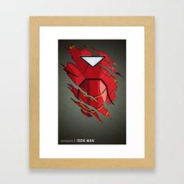 IronMan Ripped Framed Art Print