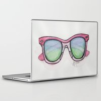 sunglasses Laptop & iPad Skins featuring Sunglasses. by Alexis Pilato