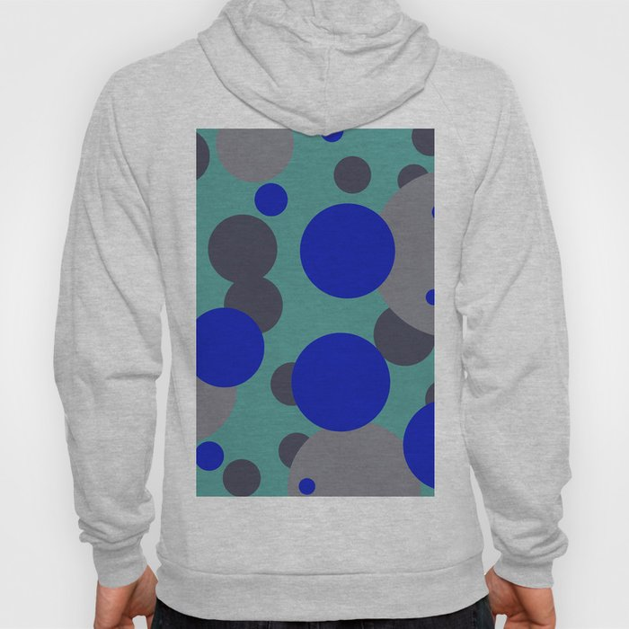 bubbles blue grey turquoise design Hoody