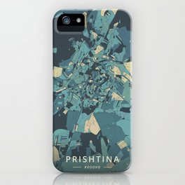 Prishtina, Kosovo - Cream Blue iPhone Case
