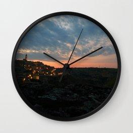 Italy: Matera - Sunset  Wall Clock
