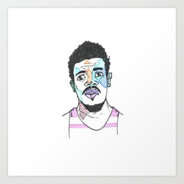 The Rapper-a-Day Project | Day 11: Chance the Rapper Art Print