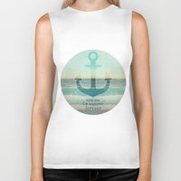 anchor Biker Tanks featuring ANCHOR by Monika Strigel®