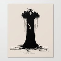 witch Canvas Prints featuring witch by Daria