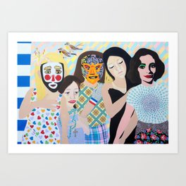 Atleast We All Got Together For Lunch Last Week Art Print