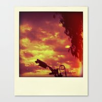 polaroid Canvas Prints featuring Polaroid by Jean-François Dupuis