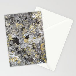 Close up of lichen on ancient stone Stationery Cards