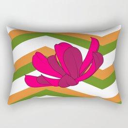 Chevron & Flower #1 Rectangular Pillow