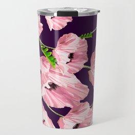 Silky Poppy Flowers Dark Background #decor #society6 #buyart Travel Mug