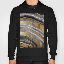 Black and Gold Geode rock Hoody