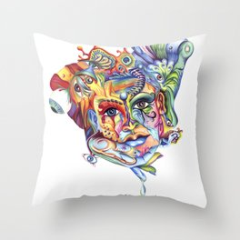 Eye hold my head up high Throw Pillow