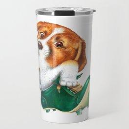 A little dog in a spike Travel Mug