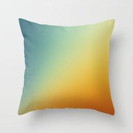 Gradient Colours: Orange Blue Throw Pillow