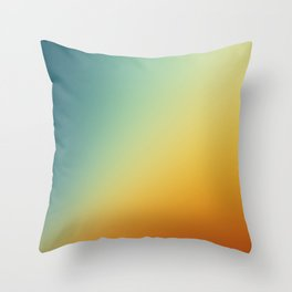Gradient Colours: Orange Blue Throw Pillow