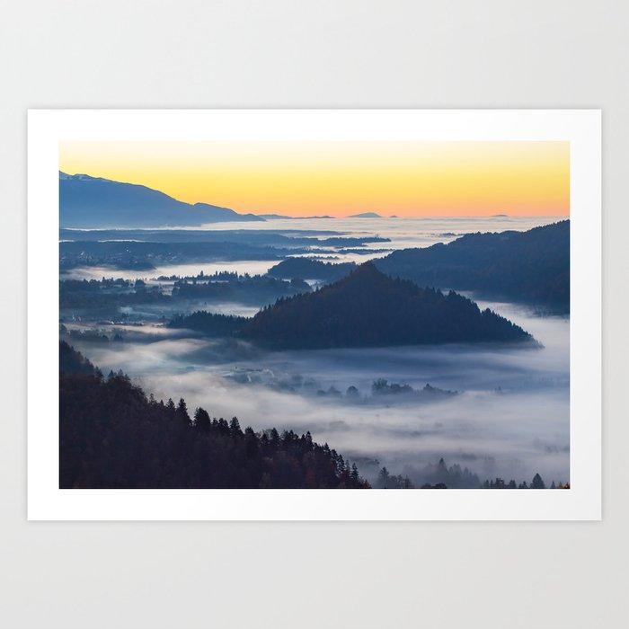 Sunset Valley #landscape #photography #society6 Art Print