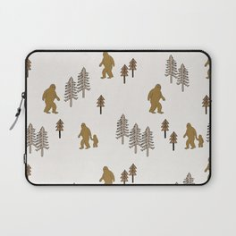 Sasquatch forest woodland mythic animal nature pattern cute kids design forest Laptop Sleeve