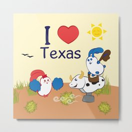Ernest and Coraline | I love Texas Metal Print