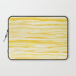 Milk and Honey Yellow Stripes Abstract Laptop Sleeve