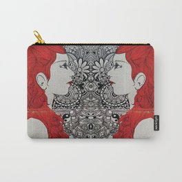 Red Waves Carry-All Pouch
