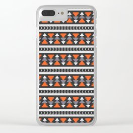 Construction tale Clear iPhone Case