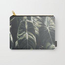 Monstera Leaf, Tropical, Wall Art, Print, Botanical Decor, Modern, Minimal, Plant, Green, Carry-All Pouch