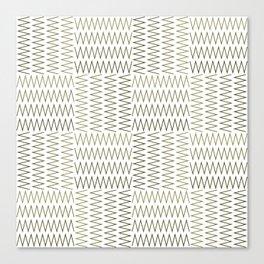 ZigZag (Absolute/Corner) Pattern Canvas Print