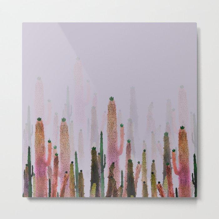 cactus water color colors Metal Print