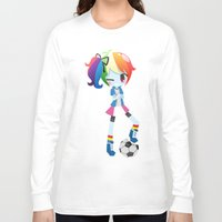 mlp Long Sleeve T-shirts featuring MLP - Rainbow Dash by Choco-Minto
