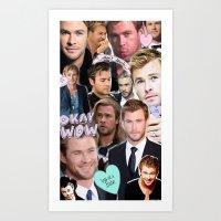 Chris Hemsworth/Thor Collage Art Print