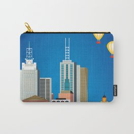 Melbourne, Australia - Skyline Illustration by Loose Petals Carry-All Pouch