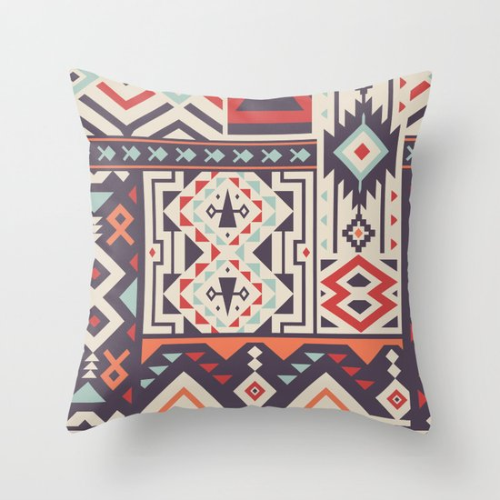 Tribal Design Throw Pillows : Special Tribal Pattern for Great Cover Design Throw Pillow by Savgraf Society6