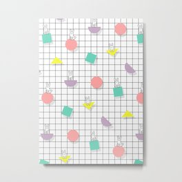 Bunny Grid Metal Print