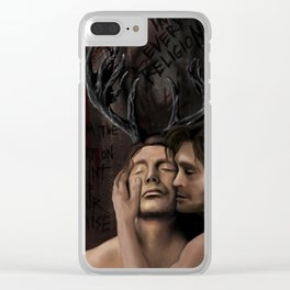 Hannibal and Will Clear iPhone Case