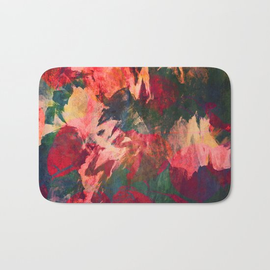 It's Complicated, Abstract Leaves Bath Mat