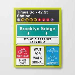 New York Manhattan USA Brooklyn Metal Print