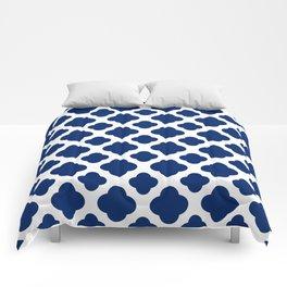 Royal Blue Quatrefoil Comforters